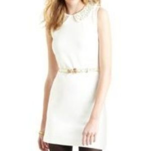 VIVIENNE TAM Off White Shift Dress Embellished Med
